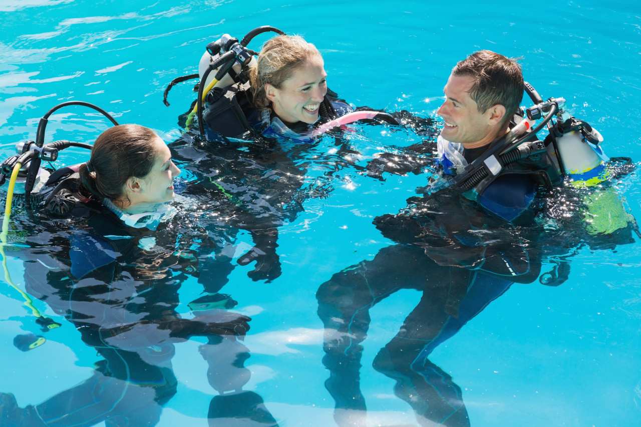 Photo of Assistant Instructor diving course.
