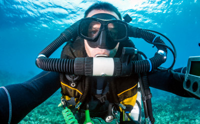 Photograph of a Technical diving course.