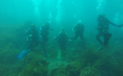 Photograph of a Professional diving course.