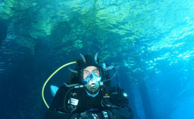 Photo of Full Face Mask Diver diving course.