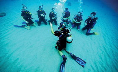 Photo of PADI Open Water Scuba Certification and Scuba Diving Merit Badge Program: diving course.